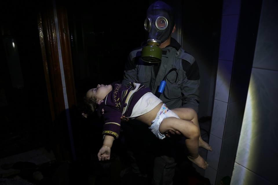 הפצצה כימית בסוריה. צילום: רשתות ערביות