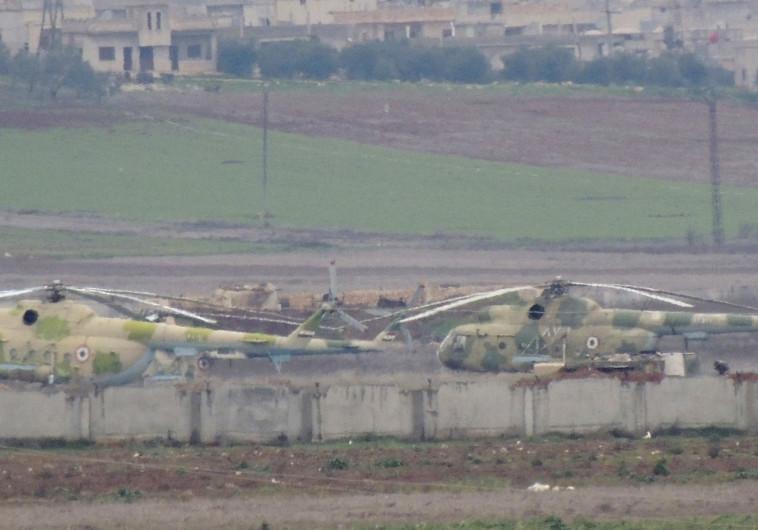 מסוקים של צבא סוריה. צילום: רויטרס