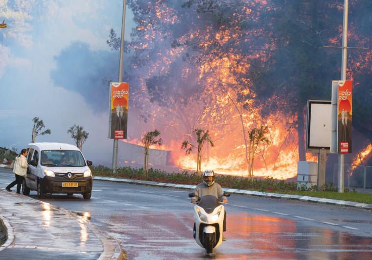 שריפה בחיפה