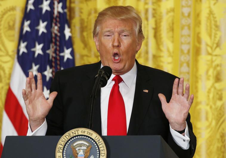 טראמפ במסיבת עיתונאים