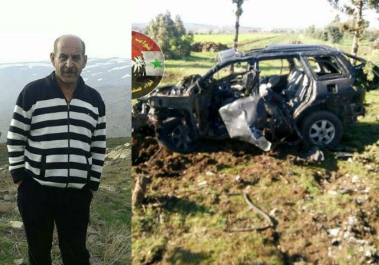 הרכב שהופצץ בקונייטרה, על פי דיווחים סוריים