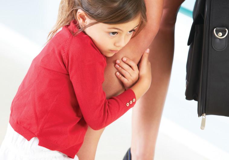 ילדה עם אמה, חרדת נטישה, אילוסטרציה