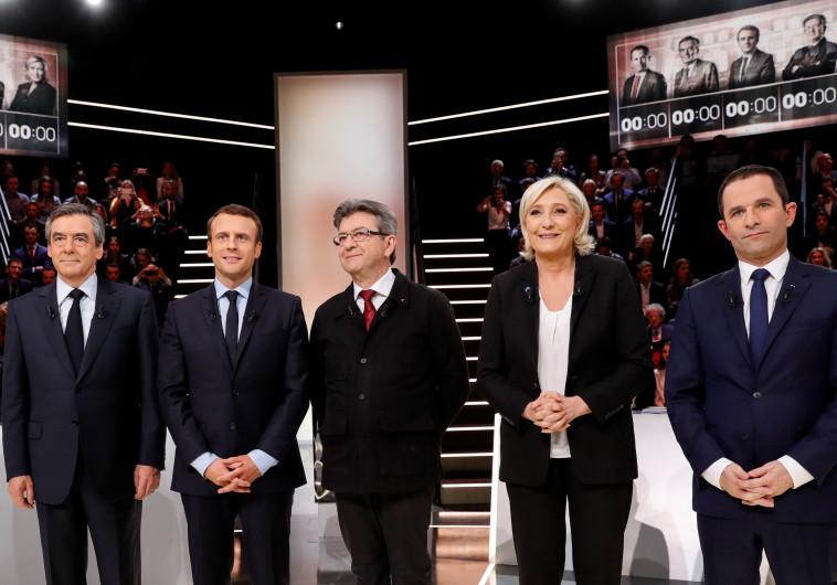 משתתפי העימות לנשיאות צרפת