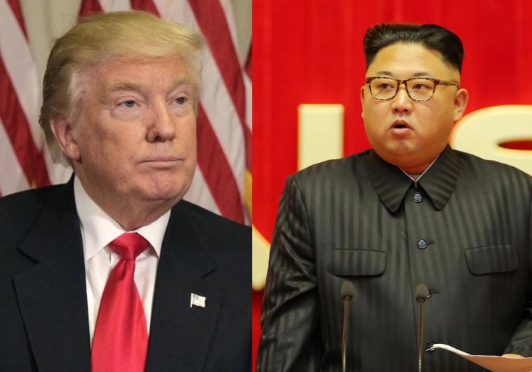 דונאלד טראמפ וקים ג'ונג און