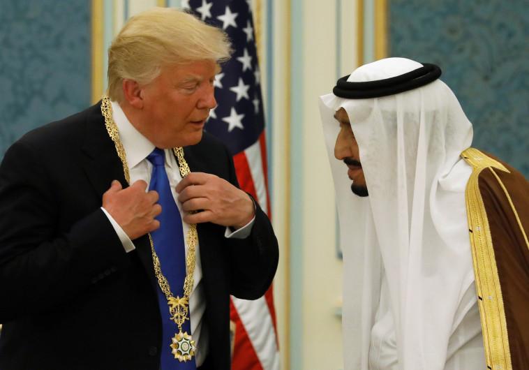 הנשיא טראמפ זוכה לעיטור הוקרה ממלך סעודיה סלמן