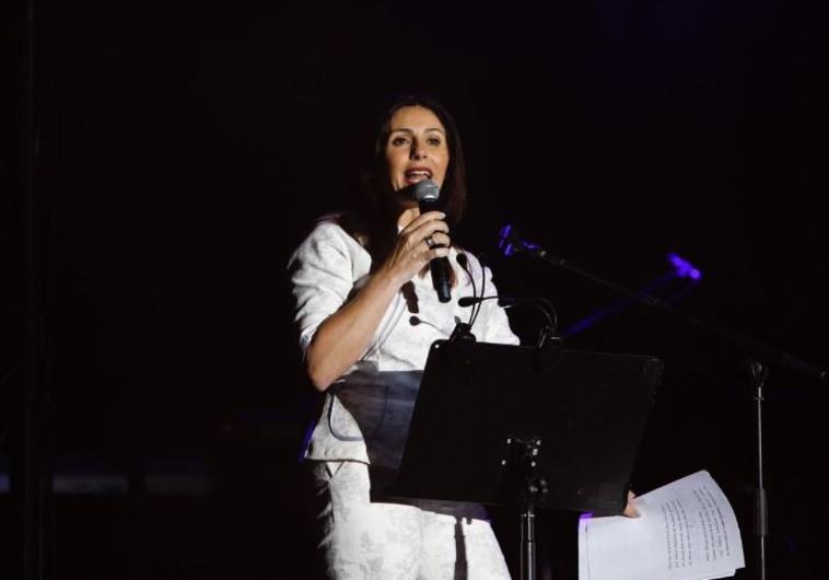 מירי רגב נואמת בפסטיבל ישראל. צילום: גיא יחיאלי