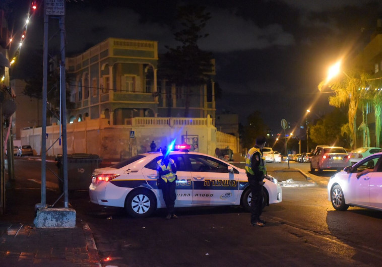כוחות משטרה מאבטחים ביפו