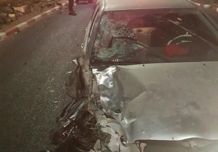 """תאונת דרכים בטבריה. צילום: תיעוד מבצעי מד""""א"""