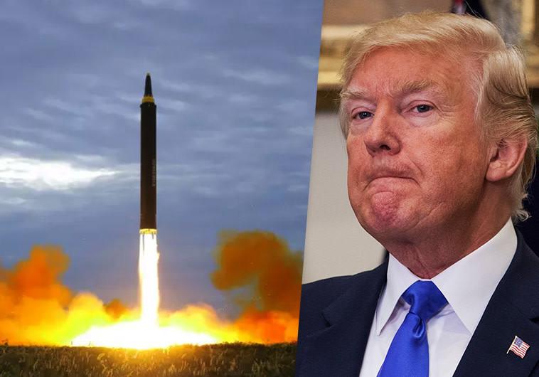 תרגיל שיגור טיל גרעיני של קוריאה הצפונית ודונלד טראמפ