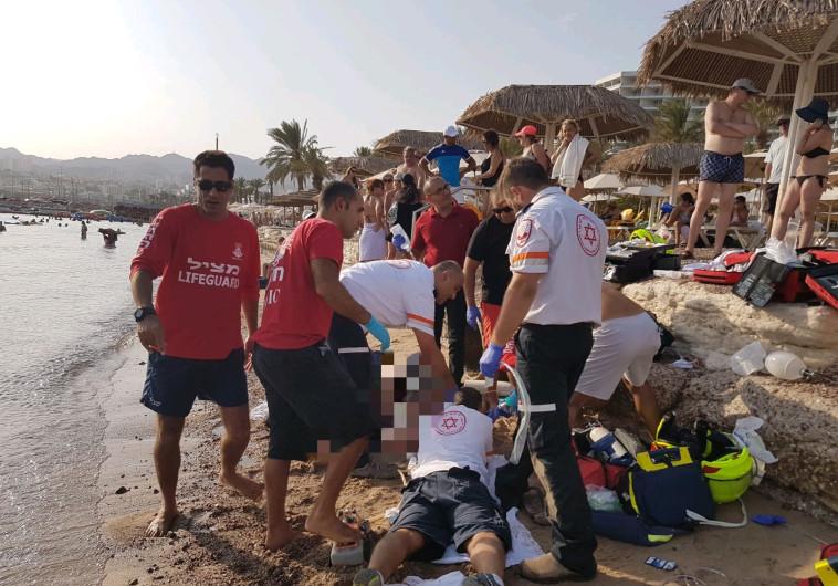 מכת הטביעות: בן 50 טבע למוות בחוף חנניה באילת
