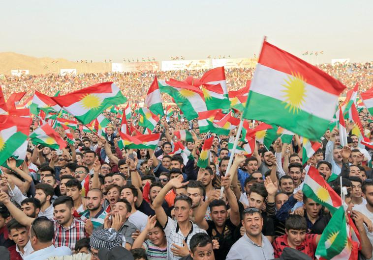 כורדים בעיראק, כנס תמיכה במשאל העם