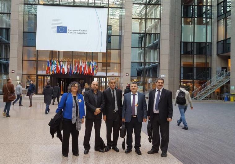 חברי הכנסת של הרשימה המשותפת במטה האיחוד האירופי