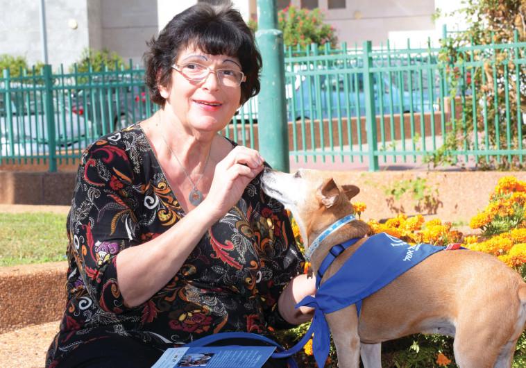 ירדנה נורנברג עם הכלב