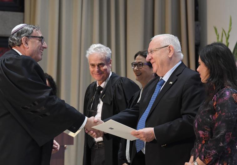 ראובן ריבלין בטקס השבעת שופטים בבית הנשיא