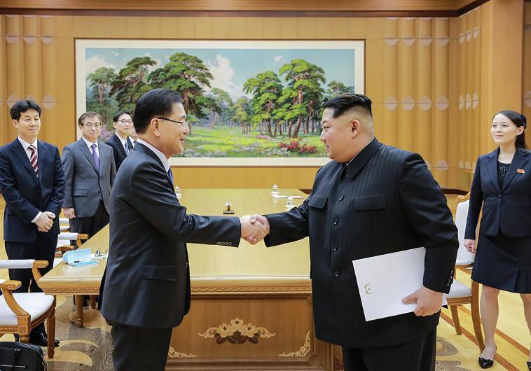 שליט קוריאה הצפונית קים נפגש עם שליח דרום קוריאני