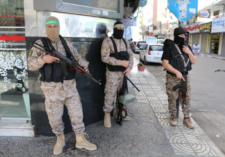 אנשי חמאס ברצועת עזה