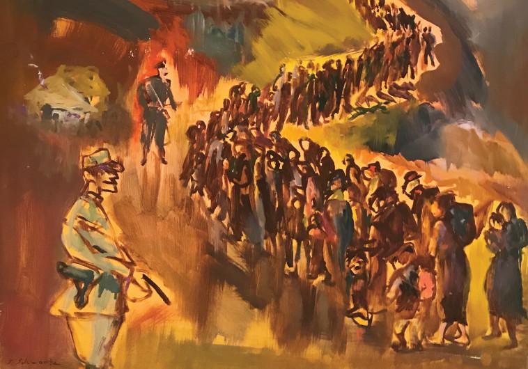 תערוכה - שלמה שוורץ - צעדת המוות בטרנסניסטריה - צילום באדיבות הכנסת