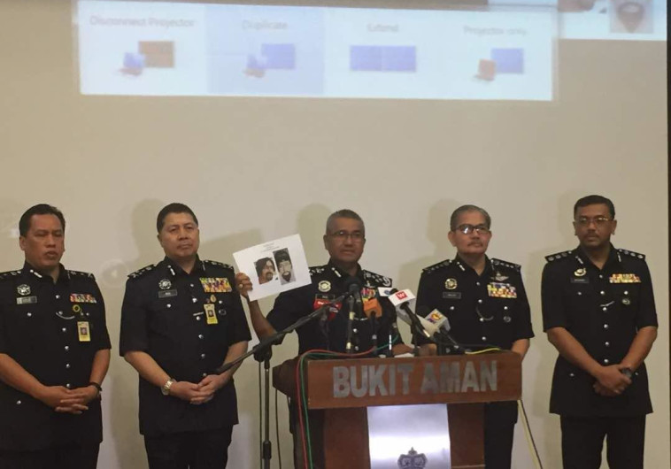משטרת מלזיה מציגה את תמונת החשוד בחיסול פאדי אל בטאש. צילום מסך