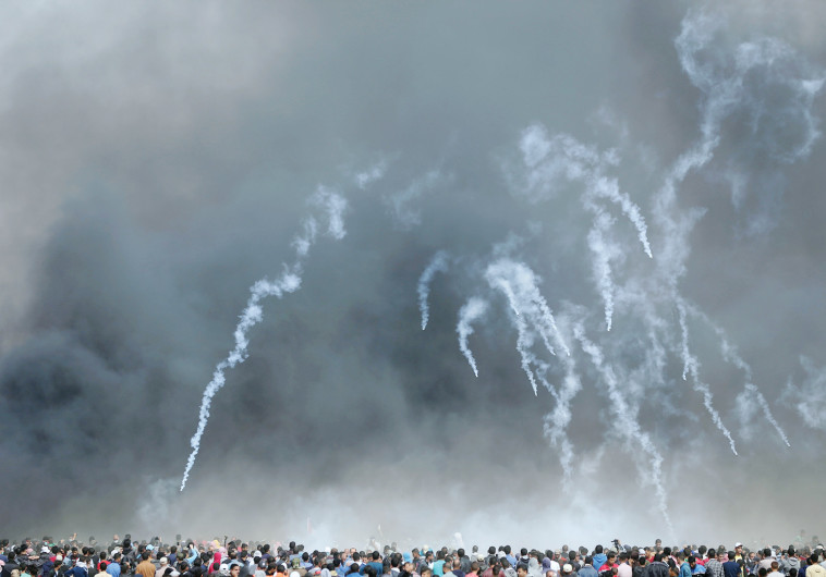 ירי גז מדמיע בגבול עזה
