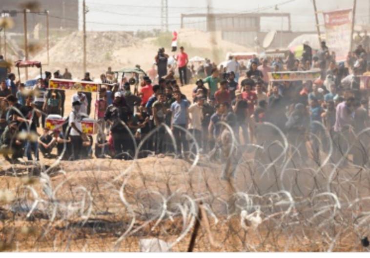 צעדת השיבה: הפרות סדר אלימות של פלסטינים בגדר בעזה
