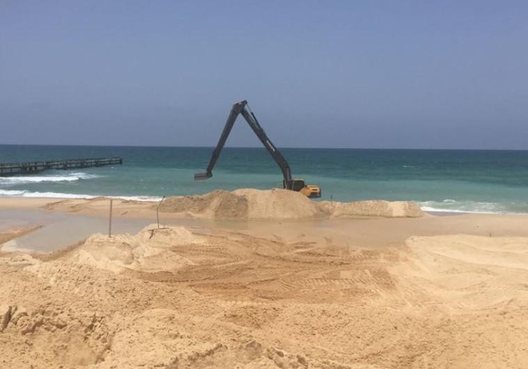 הקמת המכשול הימי בעזה