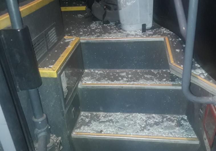 האוטובוס שהותקף בנגב