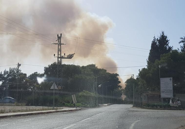 שריפה סמוך לקיבוץ כיסופים