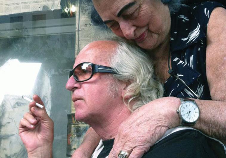 נתן זהבי ושרה עם שיער סגול