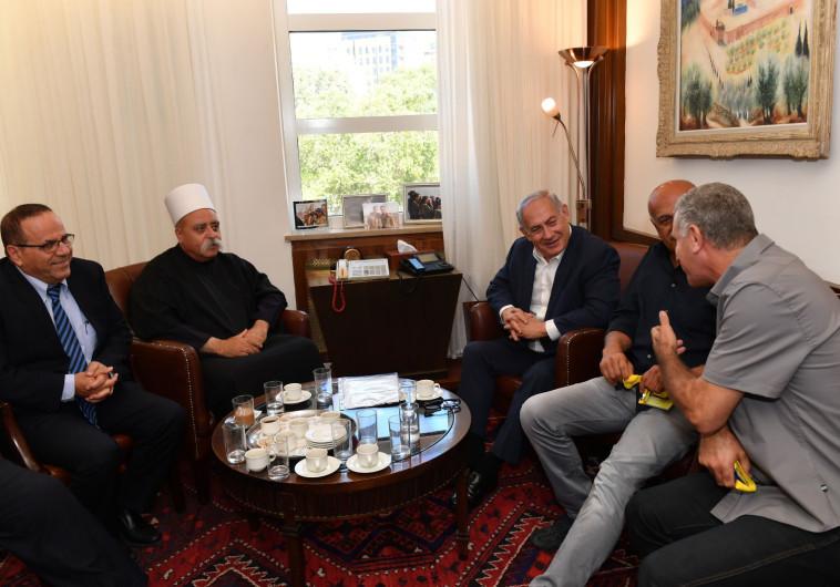 פגישת ראש הממשלה נתניהו עם ראשי העדה הדרוזית
