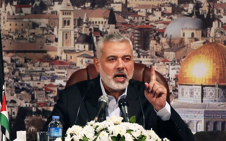 ראש הלשכה המדינית של חמאס לשעבר, הנייה. צילום: רויטרס