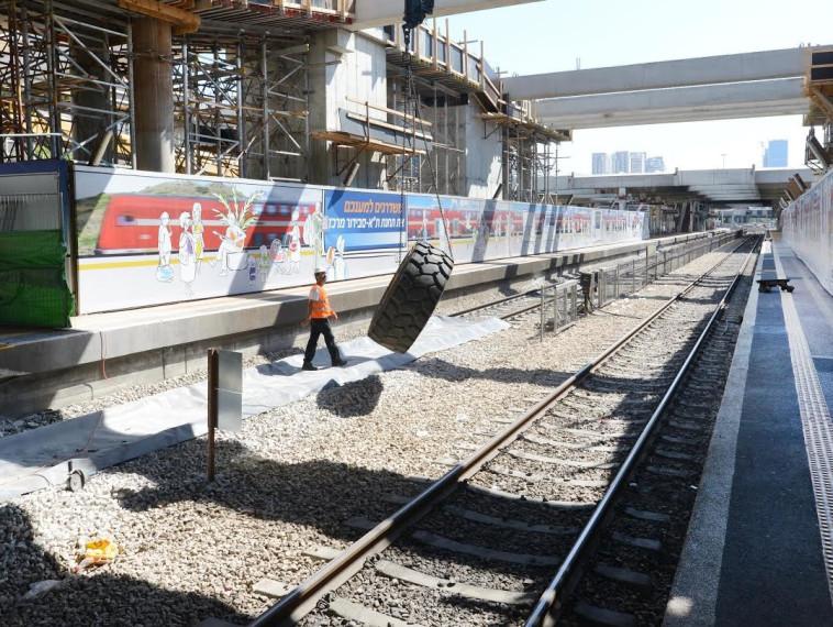 עבודות ברכבת ישראל. צילום: אבשלום ששוני