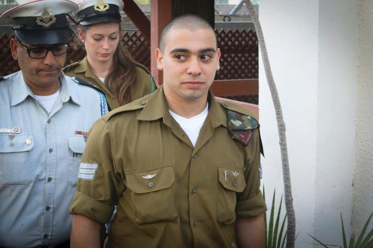 החייל אלאור אזריה. גם במקרה שלו נתניהו התכופף בפני לחץ מימין. צילום: פלאש 90