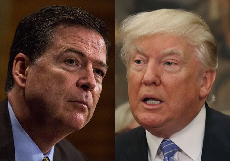 טראמפ (מימין) וקומי (משמאל). מהלך שליבה את החשדות על קשרי הנשיא עם הממשל הרוסי. צילום: Getti Images
