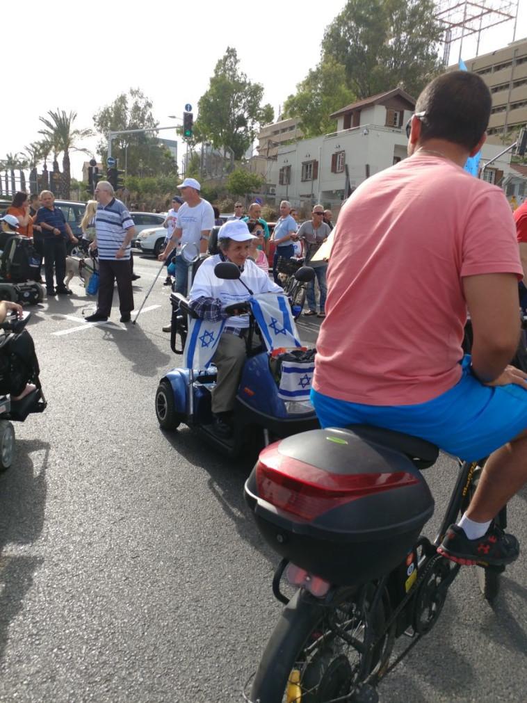 הפגנת הנכים בתל אביב. צילום: מטה מאבק הנכים