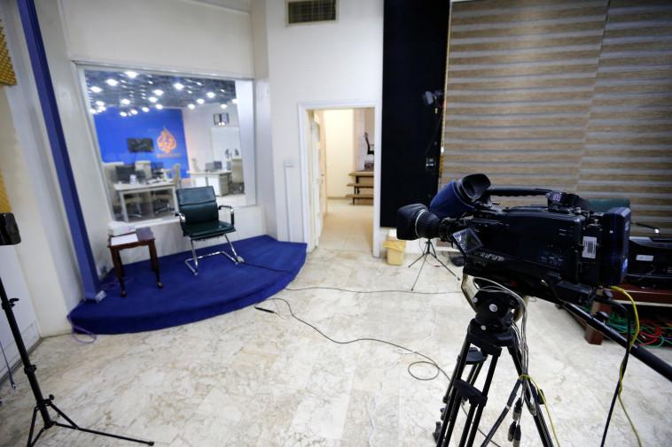 קונספירציה נגד הנסיכות העשירה? אולפנים ריקים של רשת אל ג'זירה. צילום: רויטרס
