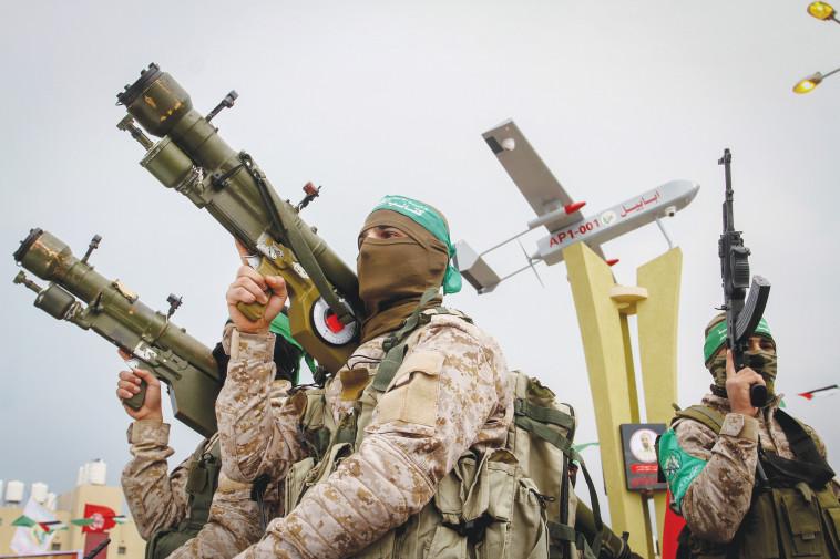 הדרישה הישראלית - פירוק חמאס מנשקו. צילום: עבד אל רחים חטיב, פלאש 90