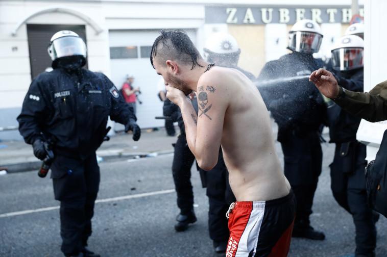 המפגינים בהמבורג. צילום: AFP