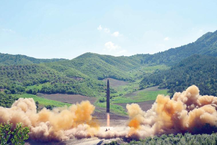 ניסוי טילים של קוריאה הצפונית. צילום: רויטרס