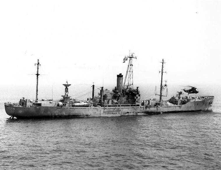 האוניה ליברטי לאחר התקיפה במלחמת ששת הימים צילום: U.S. Navy