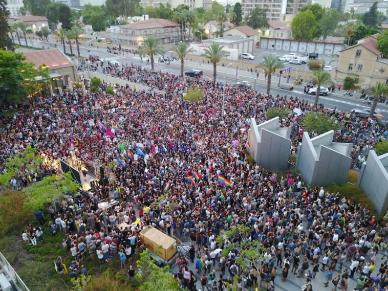 ההפגנה בתל אביב. צילום: עומר שלו
