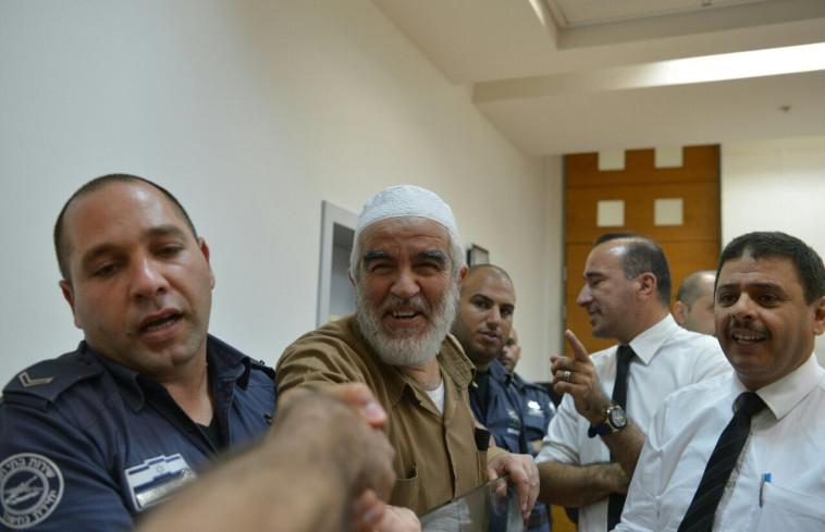ראאד סלאח מובא למעצר. צילום: אבשלום ששוני