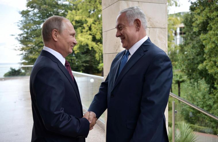 """""""היחסים בשיא של כל הזמנים"""". נשיא רוסיה פוטין ורה""""מ נתניהו, צילום: רויטרס"""