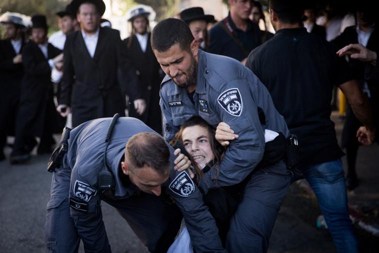 """הפגנות נגד הגיוס. בג""""ץ ביטל את חוק גיוס חרדים. צילום: יונתן זינדל"""