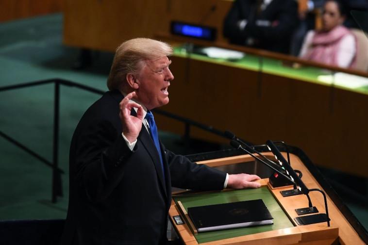 """""""נשמיד את קוריאה הצפונית, אם לא תהיה לנו ברירה"""". צילום: AFP"""