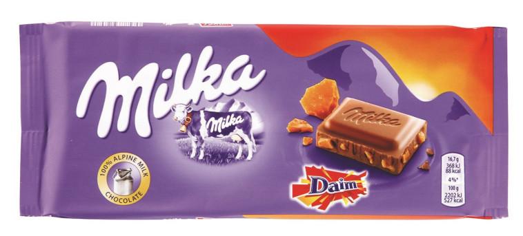 """שוקולד Daim של מילקה. צילום: יח""""צ"""