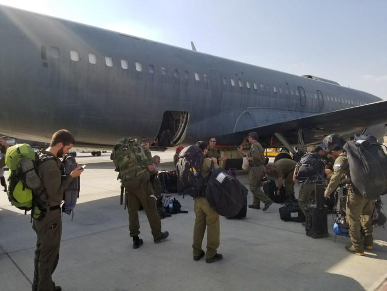 בין המשלחת 25 מהנדסים שיעזרו בהערכת הנזק. צילום: דוברות משרד החוץ