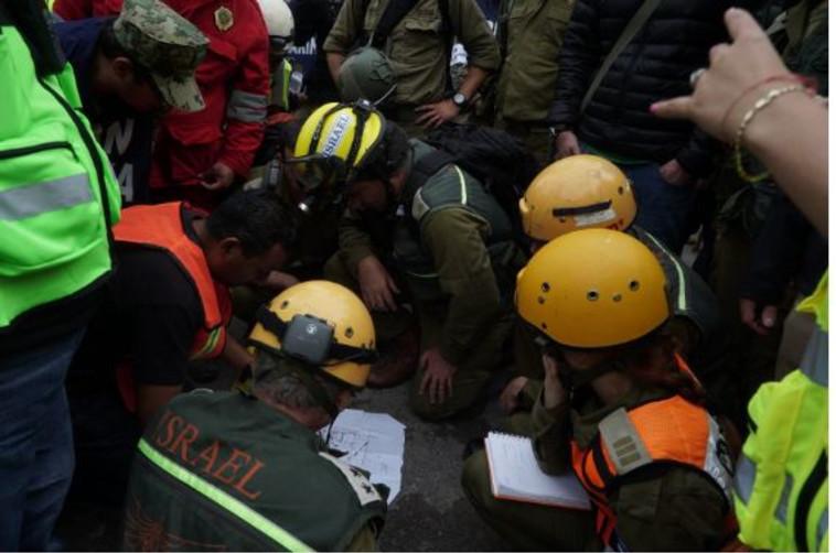 """משלחת הסיוע הישראלית במקסיקו. צילום: דובר צה""""ל"""