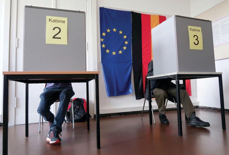 הבחירות בגרמניה, היום. צילום: רויטרס