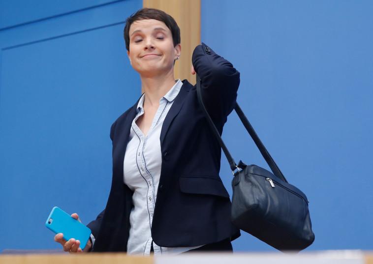 """מנהיגת מפלגת ה""""אלטרנטיבה לגרמניה"""" פרויקה פטרי. צילום: רויטרס"""