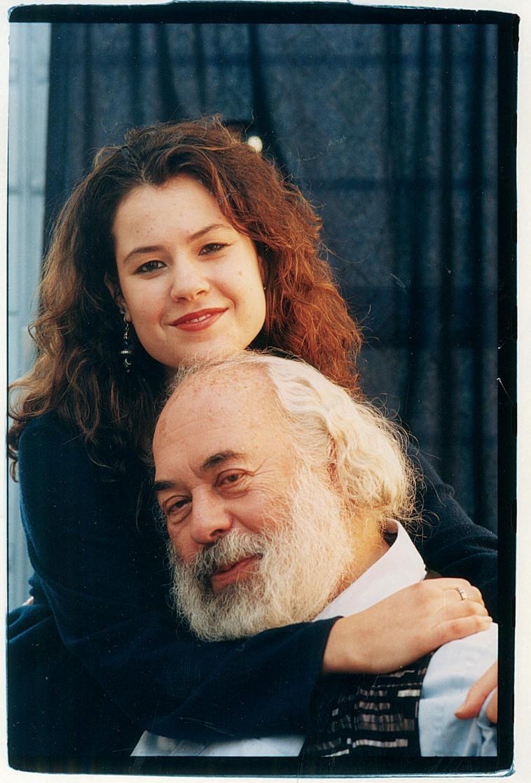 שלמה קרליבך עם בתו